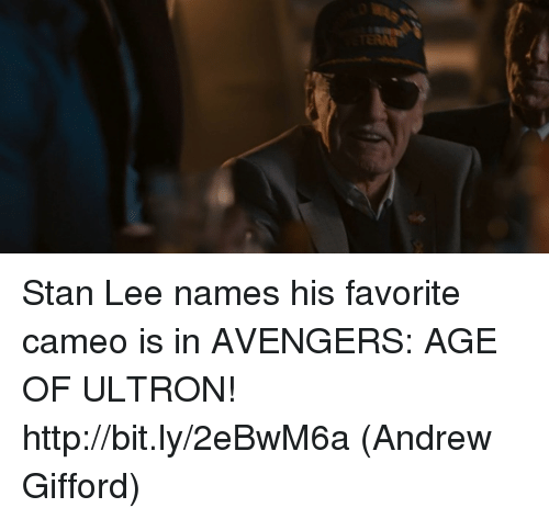 avengers age of ultron: Stan Lee names his favorite cameo is in AVENGERS: AGE OF ULTRON! http://bit.ly/2eBwM6a  (Andrew Gifford)