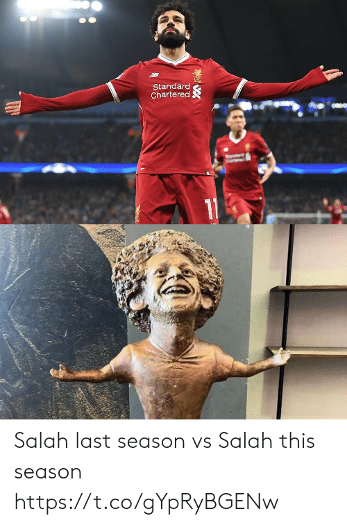 salah: Standard  Chartered Salah last season vs Salah this season https://t.co/gYpRyBGENw