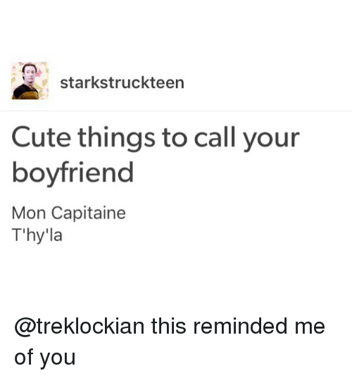 25 Best Memes About Things To Call Your Boyfriend Things To