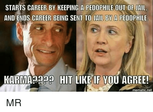 Pedophillic: STARTS CAREER BY KEEPING A PEDOPHILE OUT OF JAIL  AND ENDS CAREER BEING SENT TO JAIL BY A PEDOPHILE.  KARMA HIT  LIKE IF YOU AGREE!  mematic net MR