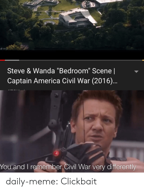 "Civil War: Steve & Wanda ""Bedroom"" Scene