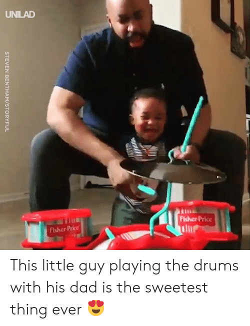 Dad, Dank, and The Sweetest Thing: STEVEN BENTHAM/STORYFUL This little guy playing the drums with his dad is the sweetest thing ever 😍