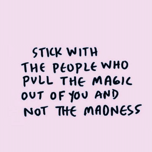 Who, Stick, and You: STICK WITH  THe Ptople WHO  PVLL THE MAGlc  OUT OF you AND  NOT THE MAONESS