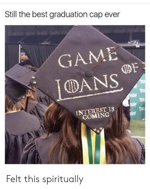 Best, Game, and Cap: Still the best graduation cap ever  GAME  DF  DANS  INTEREST IS  COMING Felt this spiritually