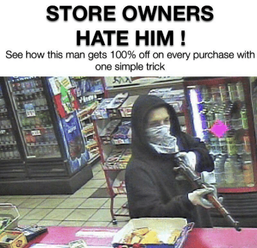 Owners: STORE OWNERS  HATE HIM!  See how this man gets 100% off on every purchase with  one simple trick