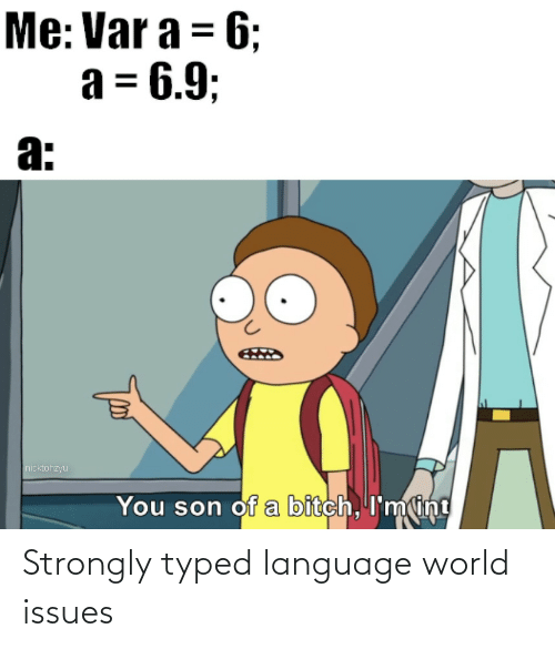 Typed: Strongly typed language world issues