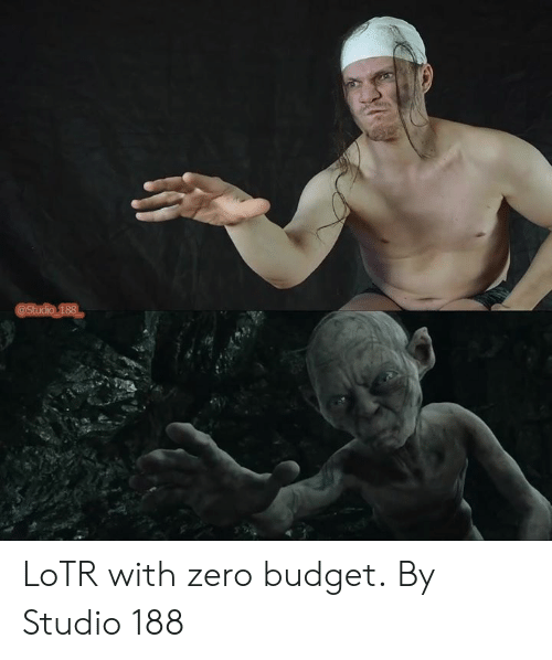 lotr: @Studio 188 LoTR with zero budget.  By Studio 188