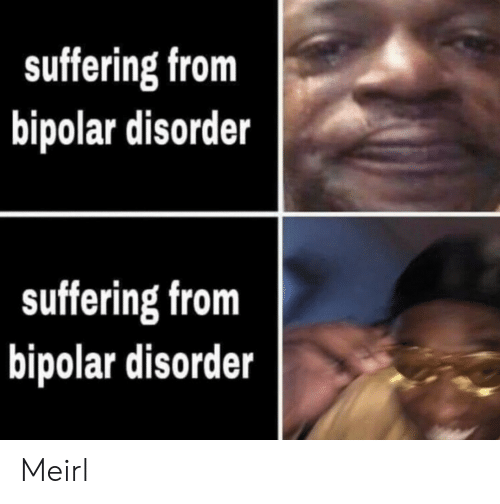 Suffering: suffering from  bipolar disorder  suffering from  bipolar disorder Meirl