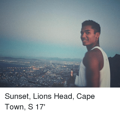 Caping: Sunset, Lions Head, Cape Town, S 17'