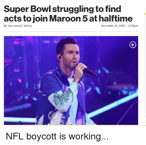 Nfl, Super Bowl, and Bowl: Super Bowl struggling to find  By Jem Aswad, Variety  December 14, 2018  6:08pm