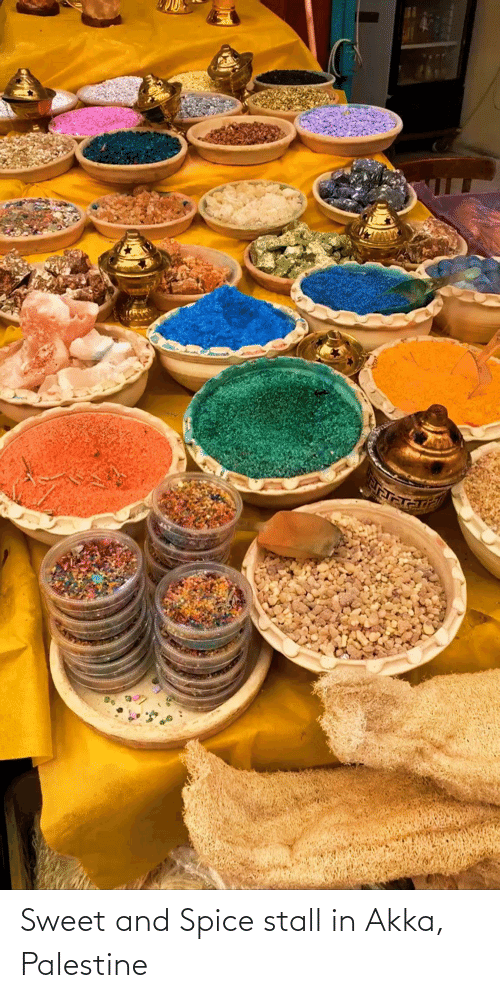 spice: Sweet and Spice stall in Akka, Palestine