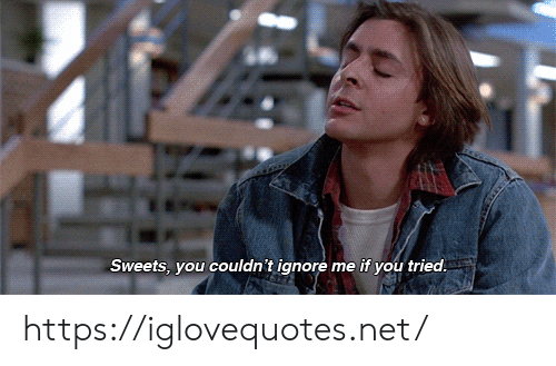Net, You, and Sweets: Sweets, you couldn't ignore me if you tried https://iglovequotes.net/