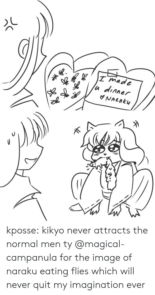 Target, Tumblr, and Blog: T mad  u dinner kposse:  kikyo never attracts the normal men ty @magical-campanula for the image of naraku eating flies which will never quit my imagination ever