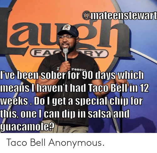 Taco Bell, Anonymous, and Bell: Taco Bell Anonymous.