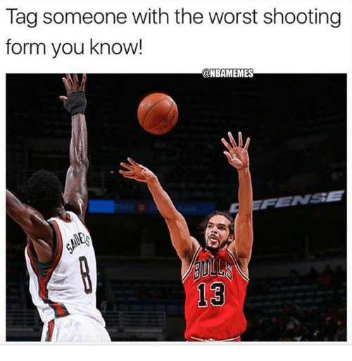 Nba, The Worst, and Tag Someone: Tag someone with the worst shooting  form you know!  @NBAMEMES  0  13