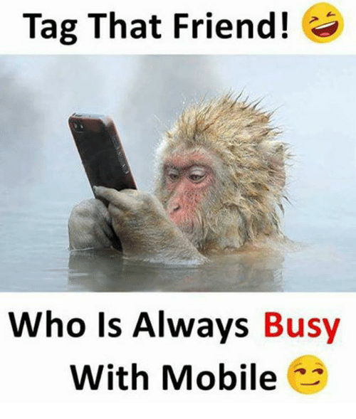 Alwaysed: Tag That Friend!  Who Is Always  Busy  With Mobile
