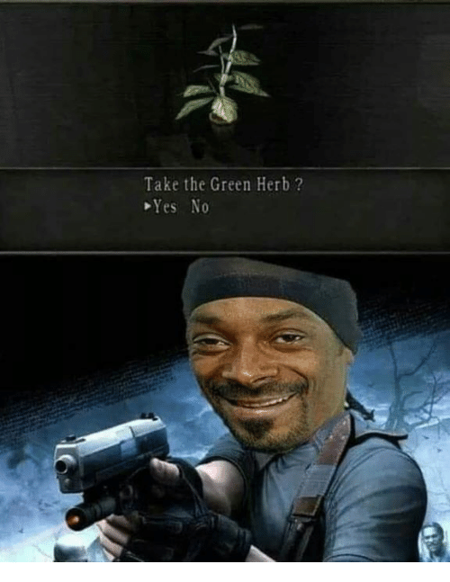 herb: Take the Green Herb ?  Yes No