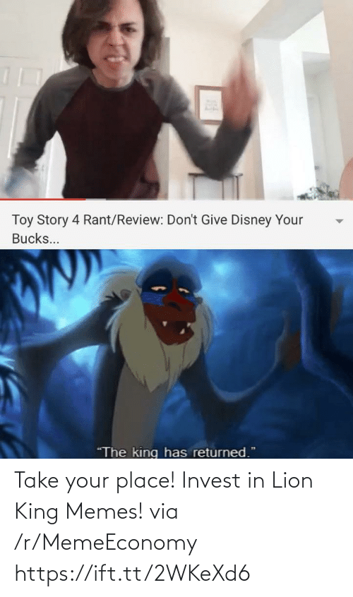 Memeeconomy: Take your place! Invest in Lion King Memes! via /r/MemeEconomy https://ift.tt/2WKeXd6
