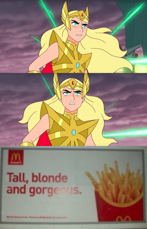 Blonde,  Tall, and And: Tall, blonde  and gorgenus.  Thers