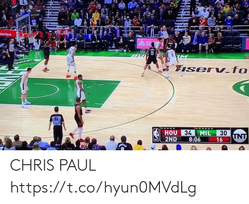 Chris Paul: tate Farm  26  34  MIL  30  HOU  2ND 8:06 CHRIS PAUL  https://t.co/hyun0MVdLg