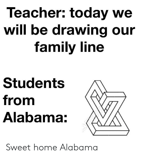 Family, Teacher, and Alabama: Teacher: today we  will be drawing our  family line  Students  from  Alabama: Sweet home Alabama