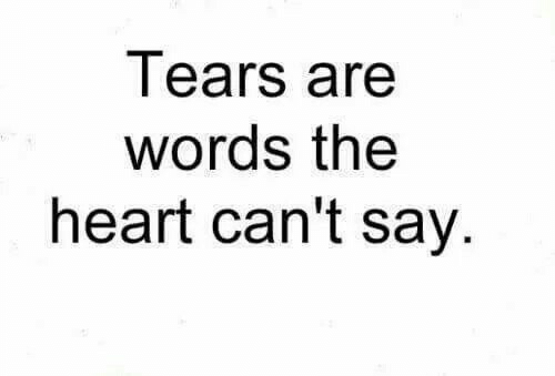 Heart, Words, and Tears: Tears are  words the  heart can't say