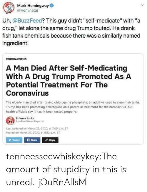 unreal: tenneesseewhiskeykey:The amount of stupidity in this is unreal.   jOuRnAlIsM