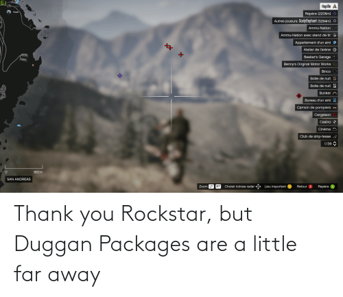 packages: Thank you Rockstar, but Duggan Packages are a little far away