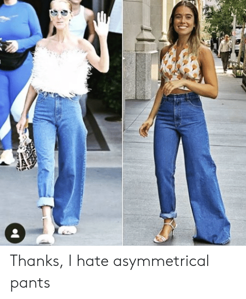 Hate, Thanks, and I Hate: Thanks, I hate asymmetrical pants