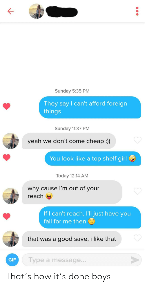 boys: That's how it's done boys
