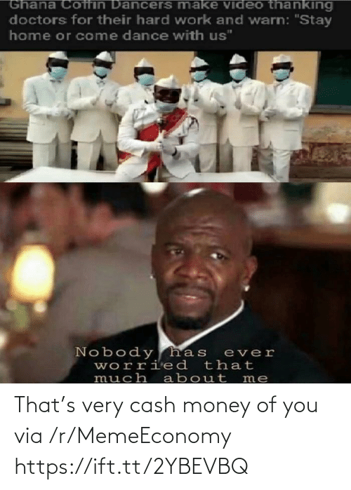 Memeeconomy: That's very cash money of you via /r/MemeEconomy https://ift.tt/2YBEVBQ