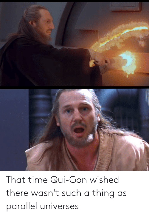 gon: That time Qui-Gon wished there wasn't such a thing as parallel universes