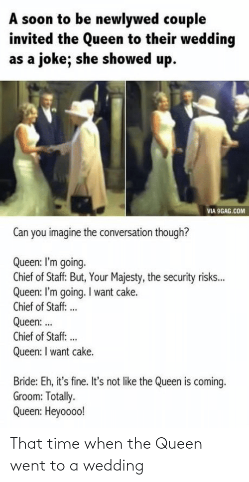 Queen: That time when the Queen went to a wedding