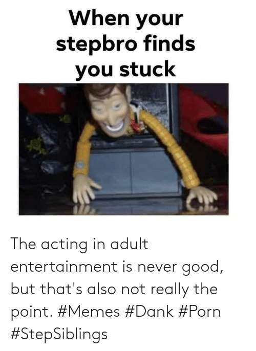Acting: The acting in adult entertainment is never good, but that's also not really the point. #Memes #Dank #Porn #StepSiblings