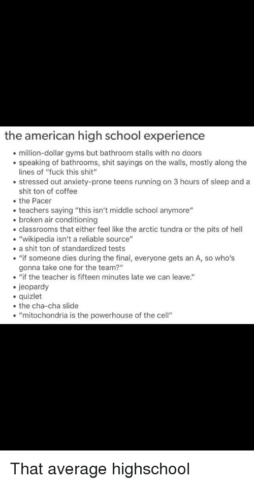 The American High School Experience Million-Dollar Gyms but