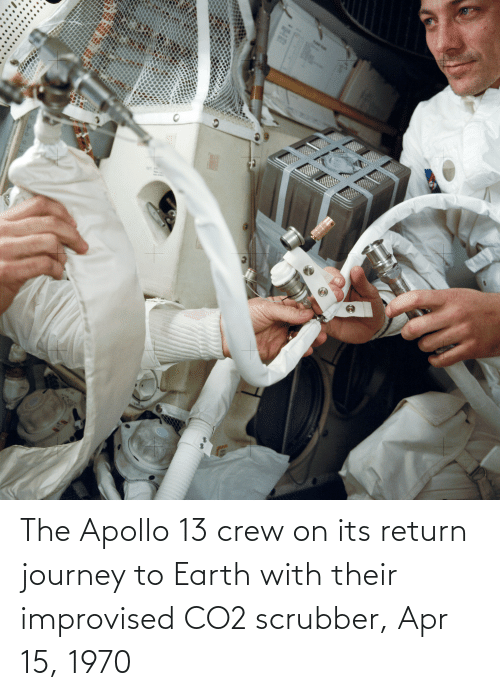 Apollo: The Apollo 13 crew on its return journey to Earth with their improvised CO2 scrubber, Apr 15, 1970