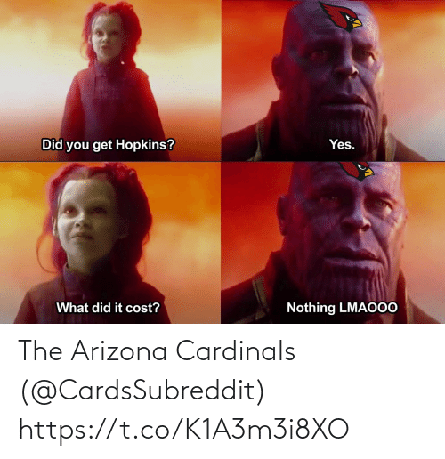 Arizona Cardinals: The Arizona Cardinals (@CardsSubreddit) https://t.co/K1A3m3i8XO