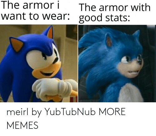 wear: The armor i  The armor with  want to wear: good stats: meirl by YubTubNub MORE MEMES