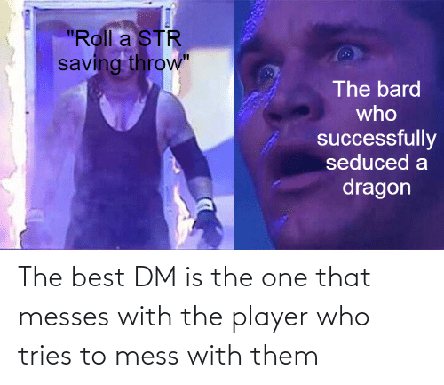 mess: The best DM is the one that messes with the player who tries to mess with them