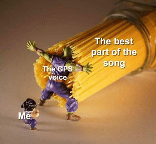 GPS: The best  part of the  song  The GPS  voice  Me