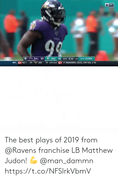 Ravens: The best plays of 2019 from @Ravens franchise LB Matthew Judon! 💪 @man_dammn https://t.co/NFSIrkVbmV