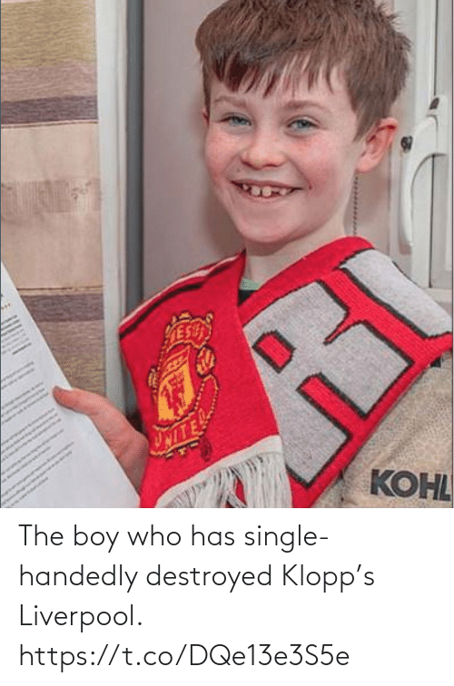 Liverpool F.C.: The boy who has single-handedly destroyed Klopp's Liverpool. https://t.co/DQe13e3S5e