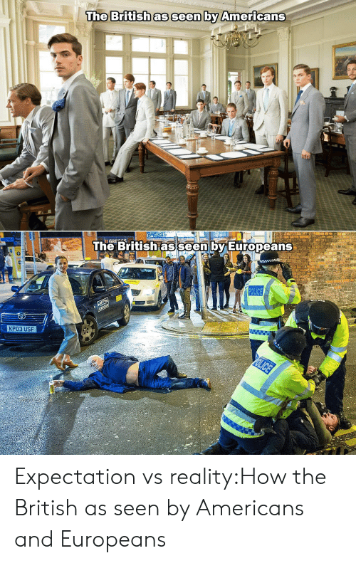 expectation vs reality: The Britishas seen by Americans  The British as  seen by Europeans  КРОЗ USF Expectation vs reality:How the British as seen by Americans and Europeans