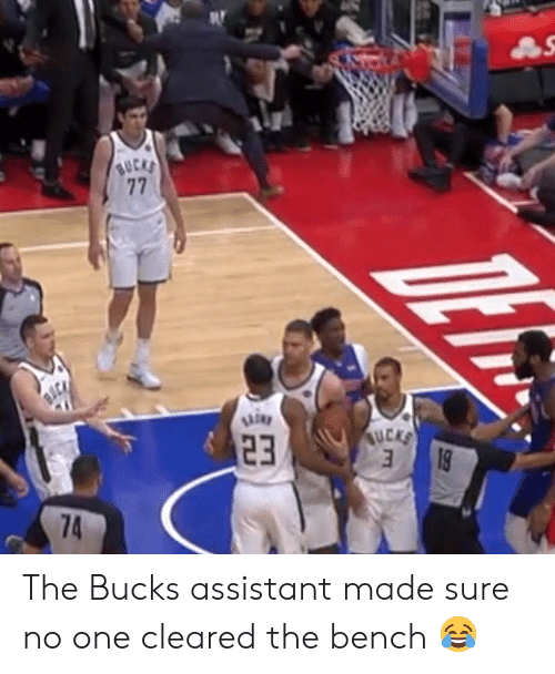 One, Bucks, and Made: The Bucks assistant made sure no one cleared the bench 😂