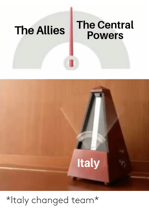 central powers: The Central  Powers  The Allies  Italy *Italy changed team*