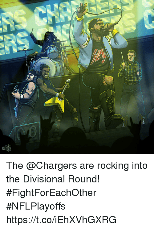 Memes, Chargers, and 🤖: The @Chargers are rocking into the Divisional Round! #FightForEachOther #NFLPlayoffs https://t.co/iEhXVhGXRG