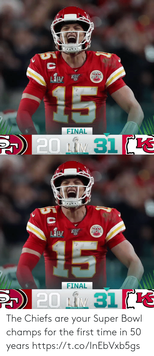 champs: The Chiefs are your Super Bowl champs for the first time in 50 years https://t.co/InEbVxb5gs