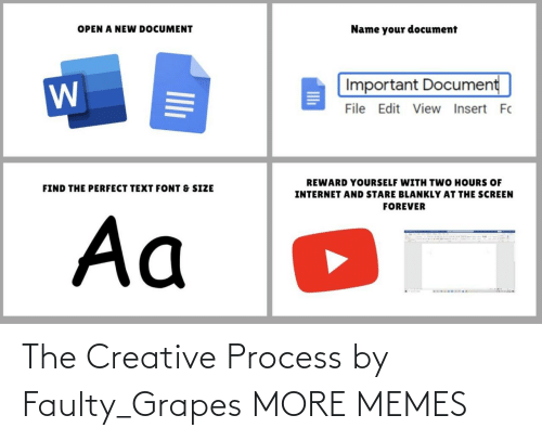 Creative: The Creative Process by Faulty_Grapes MORE MEMES