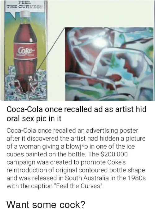 The CURVES!! Coke Coca-Cola Once Recalled Ad as Artist Hid Oral Sex