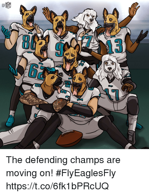 Memes, 🤖, and Moving: The defending champs are moving on! #FlyEaglesFly https://t.co/6fk1bPRcUQ